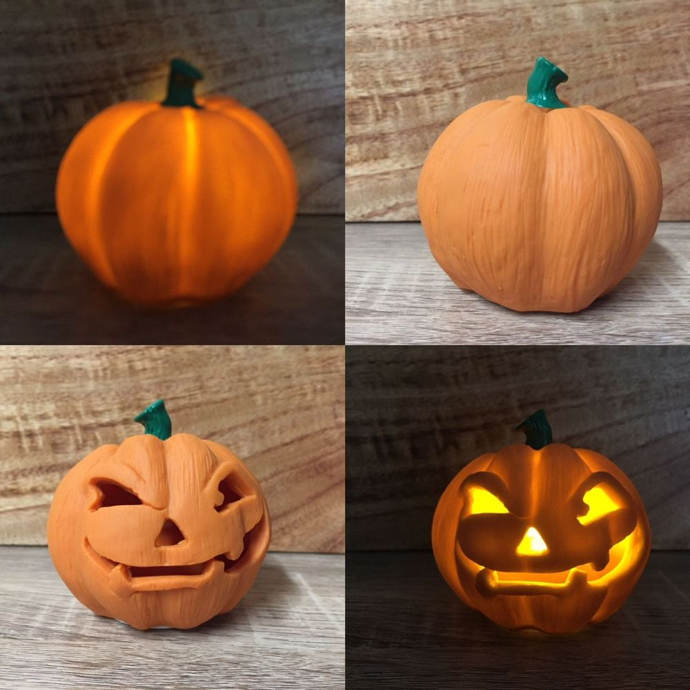 LED Flickering Pumpkin Halloween Spooky Ornament